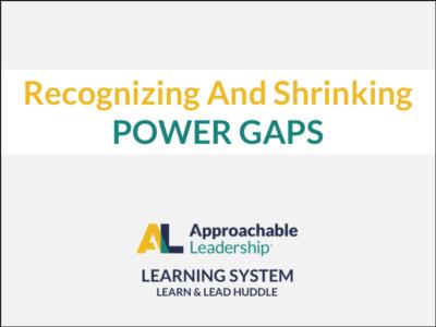 Recognizing and Shrinking Power Gaps