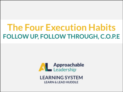 The 4 Execution Habits: Follow Up, Follow Through, C.O.P.E. course image